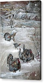 Acrylic Print featuring the painting In Time For The Holidays by Debbi Saccomanno Chan
