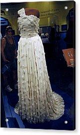 Inaugural Gown On Display Acrylic Print by LeeAnn McLaneGoetz McLaneGoetzStudioLLCcom