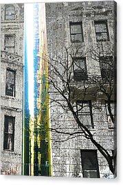 Acrylic Print featuring the mixed media Inbetween  by Tony Rubino