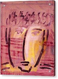 Inca Head Acrylic Print by Michael Keogh