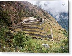 Inca Ruins And Terraces Acrylic Print