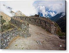 Inca Ruins In Clouds Acrylic Print