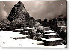 Inca Ruins Peru Machu Picchu Acrylic Print