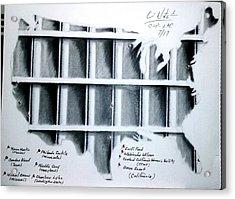 Incarceration Nation Acrylic Print