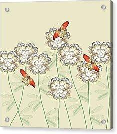 Incendia Flower Garden Acrylic Print by Rosalie Scanlon
