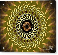 Incendia Kaleidoscope Acrylic Print by Deborah Benoit