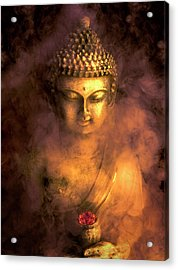 Acrylic Print featuring the photograph Incense Buddha by Daniel Hagerman
