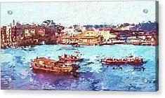 Acrylic Print featuring the digital art Inchon Harbor by Dale Stillman