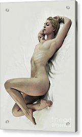 Inclined Nude Acrylic Print