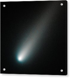 Incoming Comet Ison Acrylic Print by Marco Oliveira