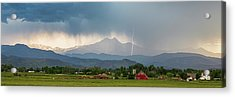 Acrylic Print featuring the photograph Incoming Storm Panorama View by James BO Insogna
