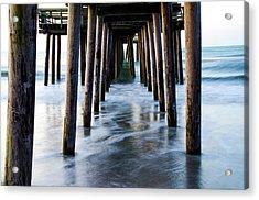 Incoming Tide - 32nd Street Pier Avalon Acrylic Print