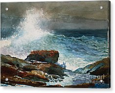 Incoming Tide Scarboro Maine Acrylic Print