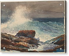 Incoming Tide - Scarboro - Maine Acrylic Print by Winslow Homer