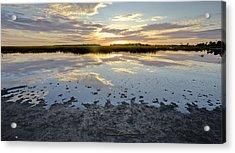 Incoming Tide Sunrise Reflection Acrylic Print