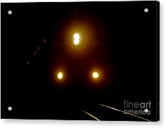 Acrylic Print featuring the photograph Incoming Train by Mariola Bitner