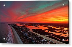 Incredible Point Sunset Acrylic Print by Robbie Bischoff