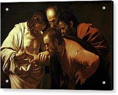 Incredulity Of Saint Thomas Acrylic Print