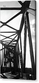 Acrylic Print featuring the photograph Indefinite Sight Bw by Jamie Lynn