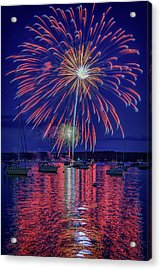 Independence Day In Boothbay Harbor Acrylic Print
