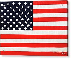 Independence Day Large Scale Oil On Canvas Original Landscape American Flag United States Flag Acrylic Print