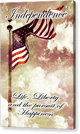 Independence Day Usa Acrylic Print by Phill Petrovic
