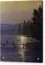 Independence Point, Lake Coeur D'alene Acrylic Print