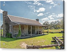 Independence Texas Cabin Acrylic Print by Victor Culpepper