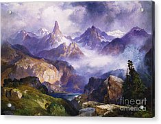 Index Peak Yellowstone National Park Acrylic Print by Thomas Moran