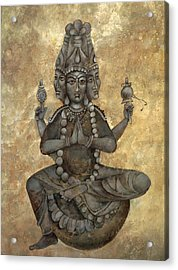 India Buddha Acrylic Print by Mary jane Miller