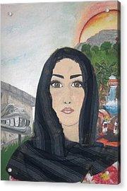 India Acrylic Print by Jessica  De la Torre