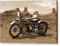 Indian 4 Sidecar Acrylic Print by Mike McGlothlen