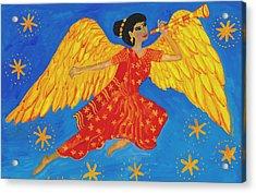 Indian Angel Messenger Acrylic Print by Sushila Burgess