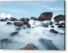 Indian Beach At Ecola State Park, Oregon  Acrylic Print