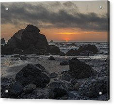 Indian Beach Sunset Acrylic Print