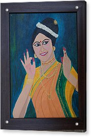 Indian Beauty Acrylic Print by Shweta Singh