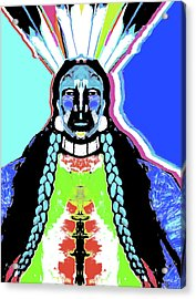Indian Blue By Nixo Acrylic Print