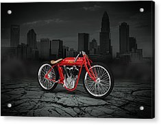 Indian Board Track Racer 1920 City Acrylic Print