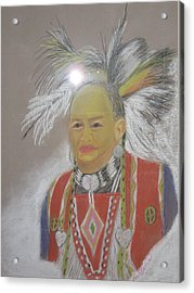 Indian Chief Acrylic Print by Geanene Anderson