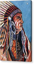 Indian Chief Acrylic Print by John Keaton