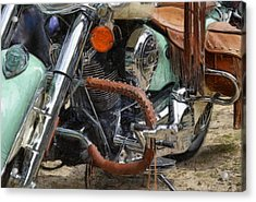 Indian Chief Vintage Ll Acrylic Print by Michelle Calkins