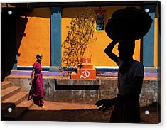 Acrylic Print featuring the photograph Indian Colors by Marji Lang