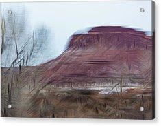 Indian Creek Winter Acrylic Print