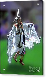 Indian Dancer Acrylic Print