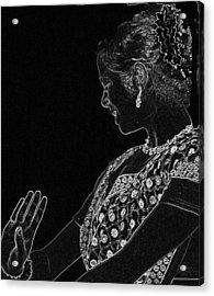 Indian Dancer  Acrylic Print