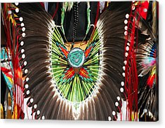 Indian Decorative Feathers Acrylic Print by Todd Klassy