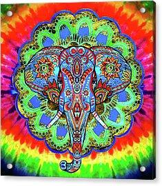 Indian Elephant Head Wall Art Acrylic Print
