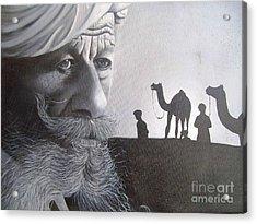 Indian Face Acrylic Print by Dhiraj Parashar