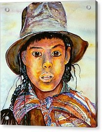 Indian Girl Acrylic Print by Norma Boeckler