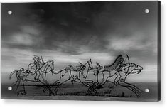 Indian Memorial At Little Bighorn National Monument Acrylic Print by Marissa Hodge